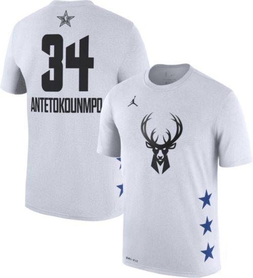 Jordan Men's 2019 NBA All-Star Game #34 Giannis Antetokounmpo Dri-FIT White T-Shirt
