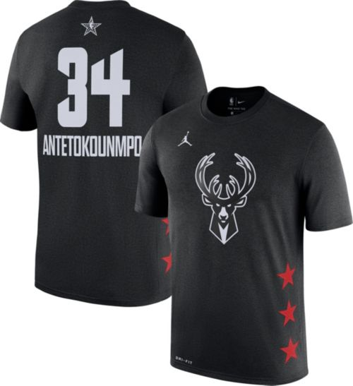 Jordan Men's 2019 NBA All-Star Game #34 Giannis Antetokounmpo Dri-FIT Black T-Shirt