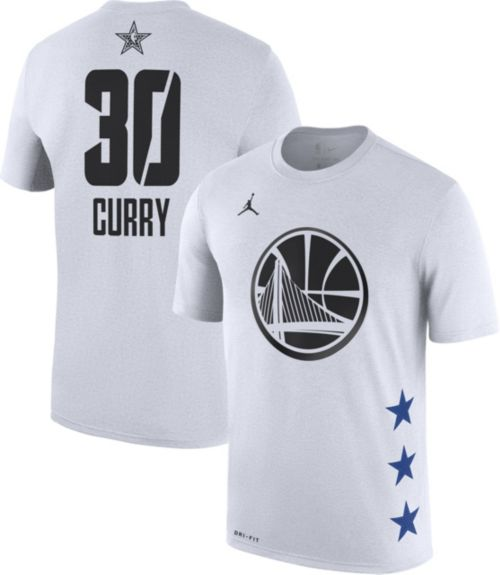 Jordan Men's 2019 NBA All-Star Game #30 Steph Curry Dri-FIT White T-Shirt