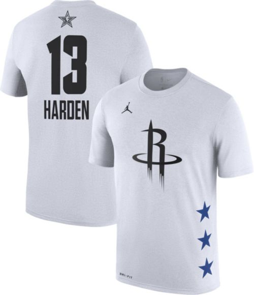 Jordan Men's 2019 NBA All-Star Game #13 James Harden Dri-FIT White T-Shirt