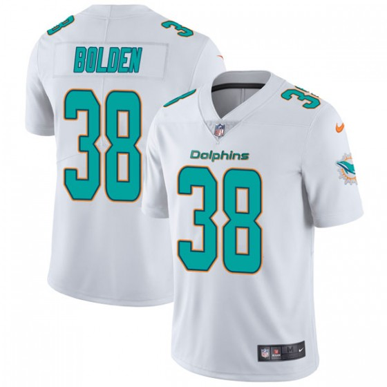 Men's Miami Dolphins #38 Brandon Bolden Nike limited Vapor Untouchable White Jersey