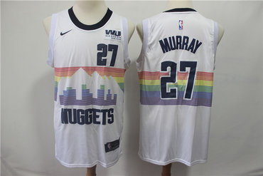 Men's Nuggets 27 Jamal Murray White 2018-19 City Edition Nike Swingman Jersey