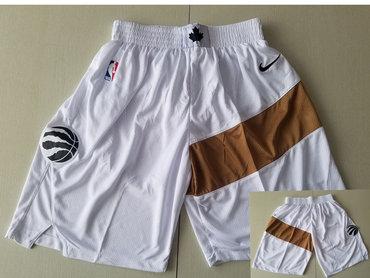 Men's Toronto Raptors White Nike Swingman Shorts