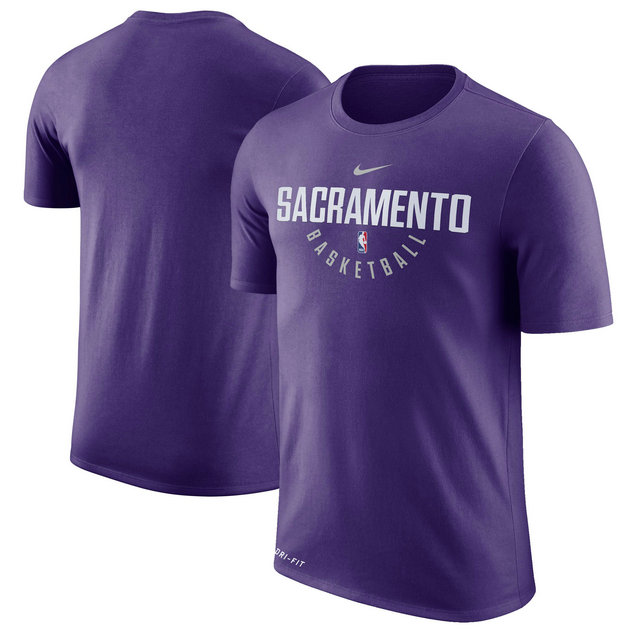 Sacramento Kings Purple Practice Performance Nike T-Shirt