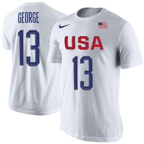 Team USA 13 Paul George Basketball Nike Rio Replica Name & Number T-Shirt W