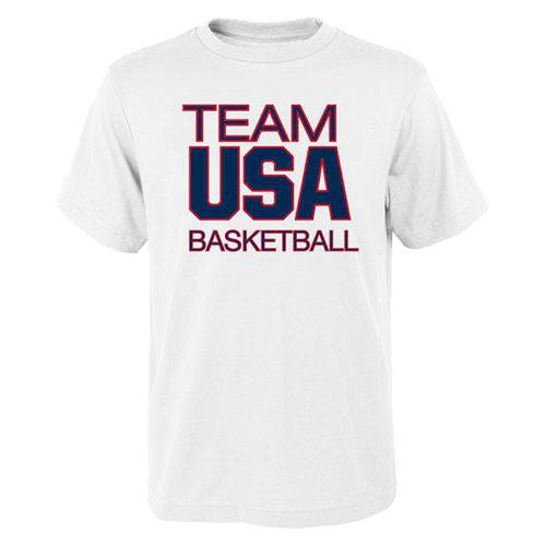 Team USA Basketball Pride for National Governing Body T-Shirt White
