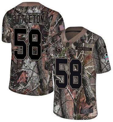 Nike Rams #58 Cory Littleton Camo Men's Stitched NFL Limited Rush Realtree Jersey