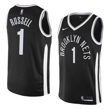 NBA Brooklyn Nets  1 Dangelo Russell Jersey 2017-18 New Season City Edition  Jersey 561d47483