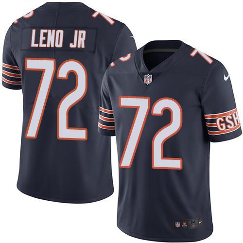 Men s Nike Chicago Bears  72 Charles Leno Jr Navy Blue Team Color Stitched  Football Vapor 663d3b579e83