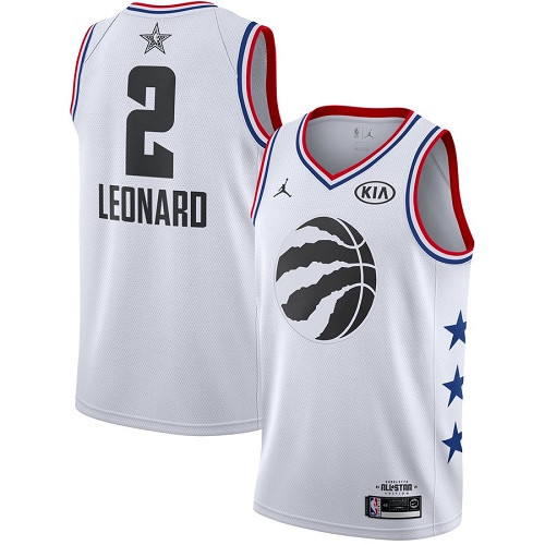 Raptors #2 Kawhi Leonard White Basketball Jordan Swingman 2019 All-Star Game Jersey