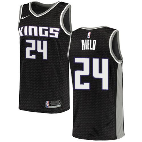 Women's Sacramento Kings #24 Buddy Hield Black Basketball Swingman Statement Edition Jersey