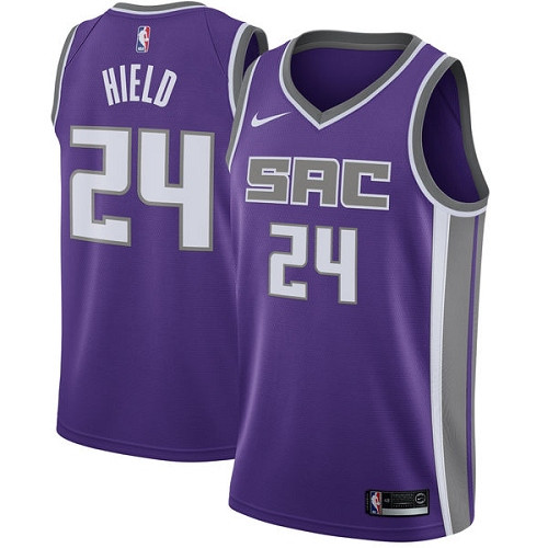 Women's Sacramento Kings #24 Buddy Hield Purple Basketball Swingman Icon Edition Jersey