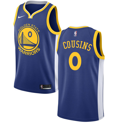 Men's Nike Golden StateWarriors #0 DeMarcus Cousins Blue NBA Swingman Icon Edition Jersey