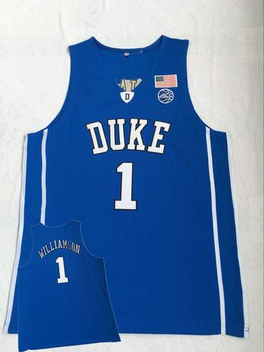 info for 64e0f f5b9b Duke Blue Devils 1 Zion Williamson Blue College Basketball ...