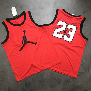 Air Jordan #23 Red Mesh Basketball Jersey