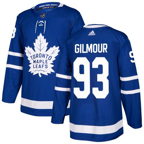 Youth Adidas Maple Leafs #93 Doug Gilmour Blue Home Authentic Stitched NHL Jersey