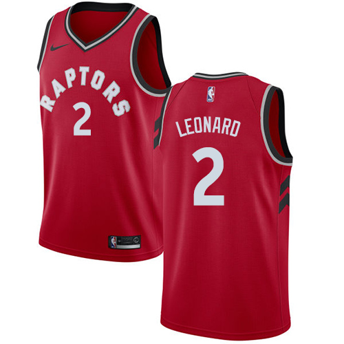Youth Toronto Raptors #2 Kawhi Leonard Red NBA Swingman Icon Edition Jersey