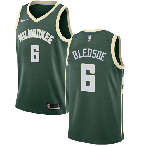 1aa222e8551 Youth Milwaukee Bucks #6 Eric Bledsoe Green Basketball Swingman Icon  Edition Jersey