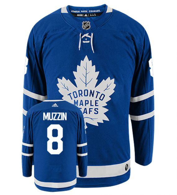 Men's Adidas Toronto Maple Leafs #8 Jake Muzzin Royal Blue NHL Home Authentic Jersey