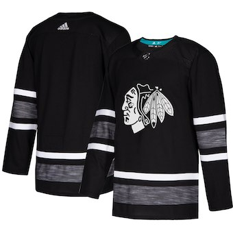 Men's Chicago Blackhawks Black 2019 NHL All-Star Game Adidas Jersey