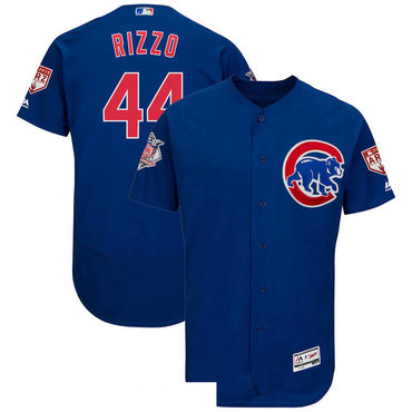 Men's Chicago Cubs 44 Anthony Rizzo Royal 2019 Spring Training Flexbase Jersey