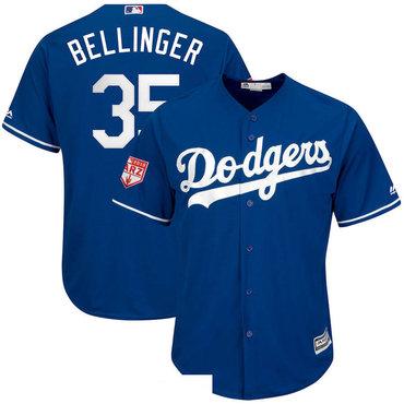 Men's Los Angeles Dodgers 35 Cody Bellinger Royal 2019 Spring Training Cool Base Jersey