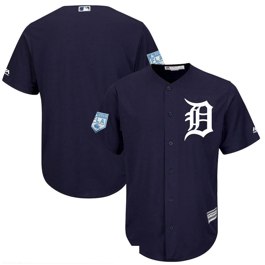 Men's Detroit Tigers Navy 2019 Spring Training Cool Base Jersey