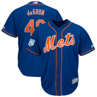 Men's New York Mets 48 Jacob deGrom Majestic Royal 2019 Spring Training Cool Base Player Jersey
