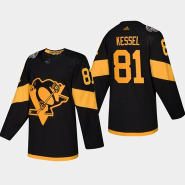 Men s  81 Phil Kessel Penguins Coors Light 2019 Stadium Series Black  Authentic Jersey e852f2c63