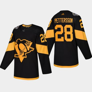 Men's #28 Marcus Pettersson Penguins Coors Light 2019 Stadium Series Black Authentic Jersey