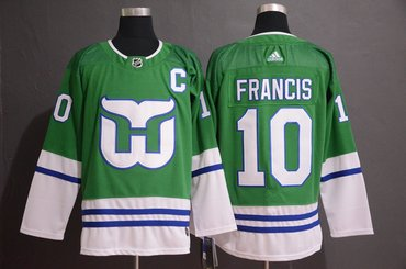 Men's Hartford Whalers #10 Ron Francis Green Adidas Jersey
