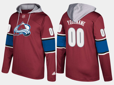 Adidas Avalanche Men's Customized Name And Number Burgundy Hoodie