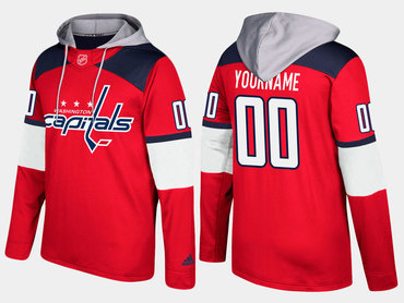 Adidas Capitals Men's Customized Name And Number Red Hoodie