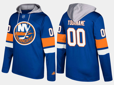 Adidas Islanders Men's Customized Name And Number Blue Hoodie