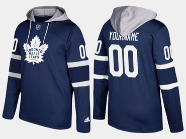 Adidas Maple Leafs Men's Customized Name And Number Royal Hoodie