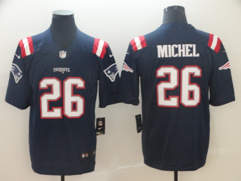 Nike New England Patriots 26 Sony Michel Navy Color Rush Limited Jersey