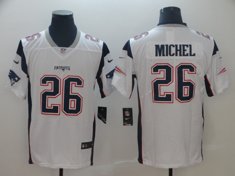 Nike New England Patriots 26 Sony Michel White Vapor Untouchable Limited Jersey