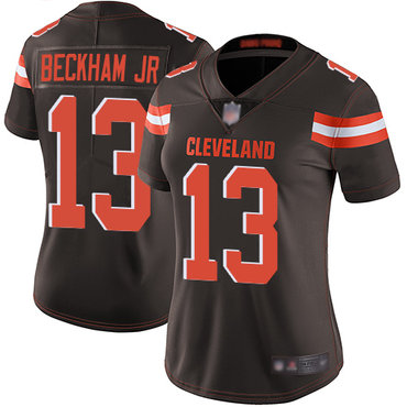 Women Nike Cleveland Browns #13 Odell Beckham Jr Brown Vapor Untouchable Limited Jersey