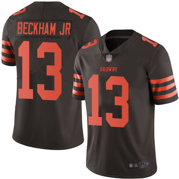 Youth Nike Cleveland Browns #13 Odell Beckham Jr Brown Color Rush Limited Jersey