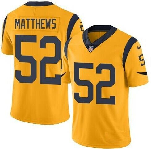 Nike Los Angeles Rams #52 Clay Matthews Gold Color Rush Limited Jersey