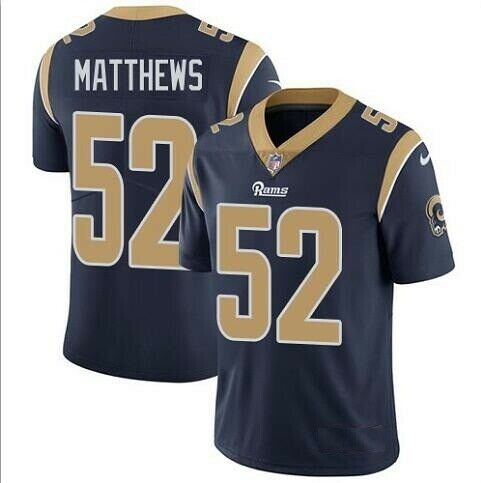 Nike Los Angeles Rams #52 Clay Matthews Navy Vapor Untouchable Limited Jersey