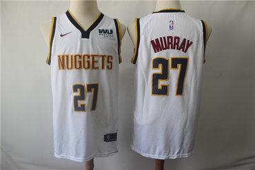 Denver Nuggets 27 Jamal Murray White Nike Swingman Jersey