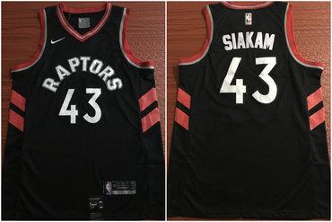 7b5fb955289 Toronto Raptors 43 Pascal Siakam Black Nike Swingman Jersey on sale ...