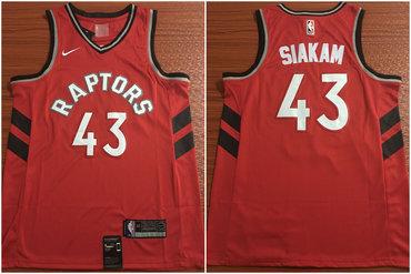Toronto Raptors 43 Pascal Siakam Red Nike Swingman Jersey