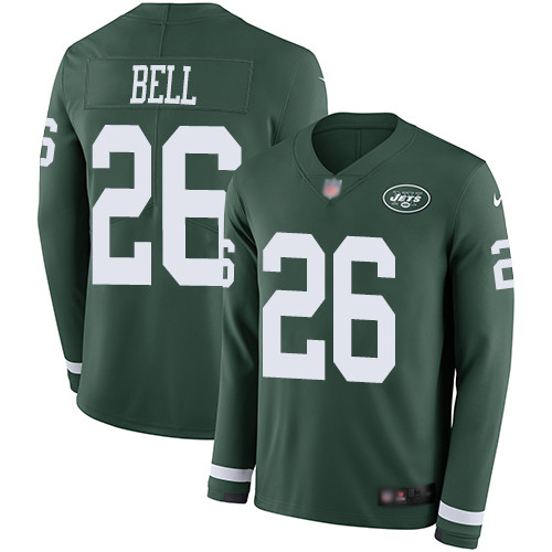 3d32e4a58 Men's New York Jets #26 Le'Veon Bell Green Team Color Stitched Football  Limited