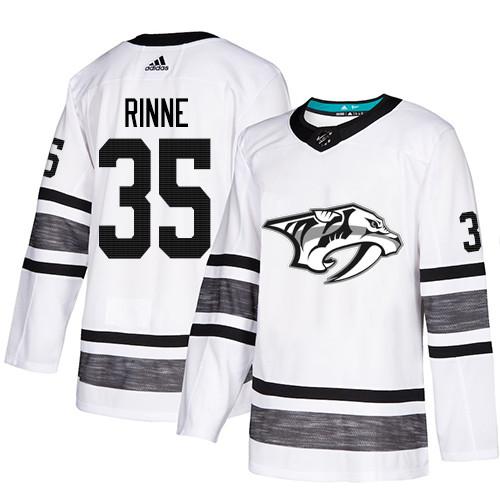 Predators #35 Pekka Rinne White Authentic 2019 All-Star Stitched Hockey Jersey