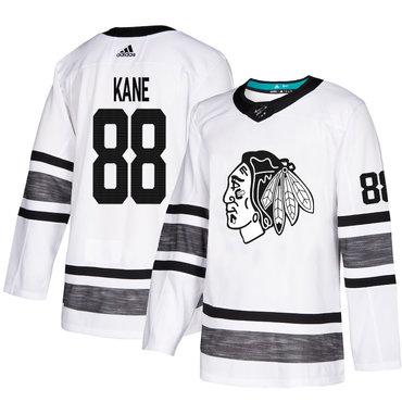 Blackhawks #88 Patrick Kane White Authentic 2019 All-Star Stitched Hockey Jersey