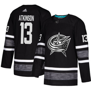 Blue Jackets #13 Cam Atkinson Black Authentic 2019 All-Star Stitched Hockey Jersey