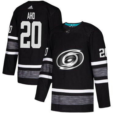 Hurricanes #20 Sebastian Aho Black Authentic 2019 All-Star Stitched Hockey Jersey
