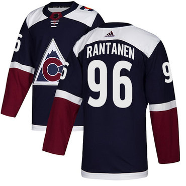 Youth Adidas Avalanche #96 Mikko Rantanen Navy Alternate Authentic Stitched NHL Jersey